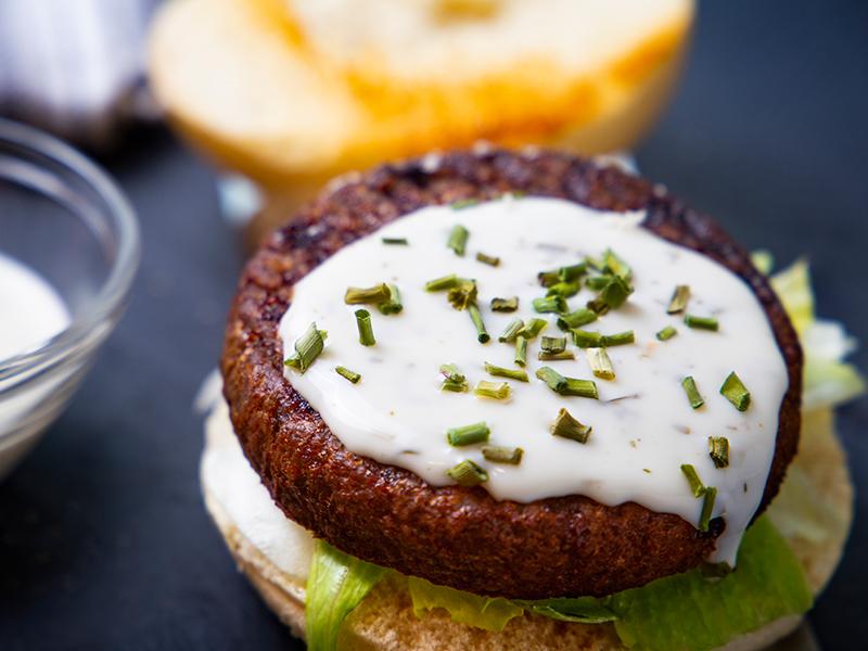Burger Salsa Yogurt ed Erba Cipollina